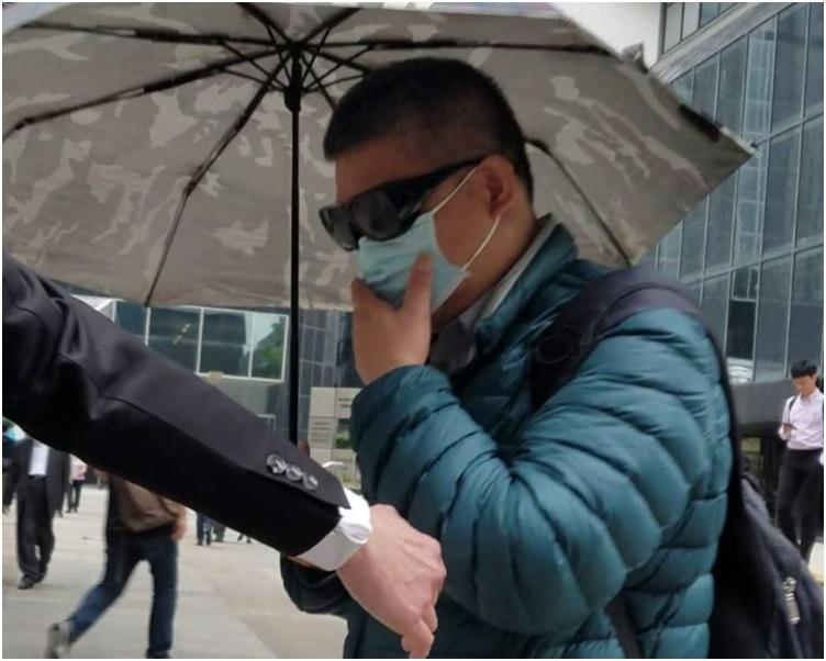 张健华渉多年前5次非礼一名视障女童。林欣乐摄