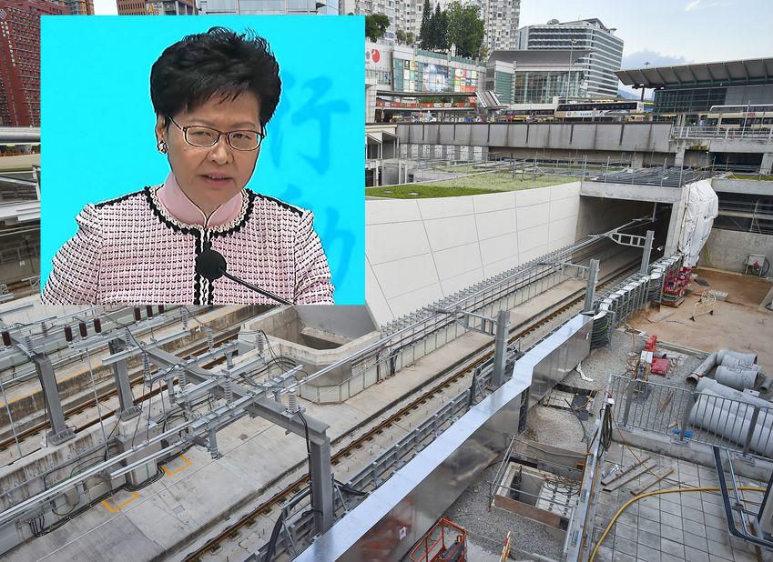林郑月娥强调一定要全面追究工程问题。资料图片