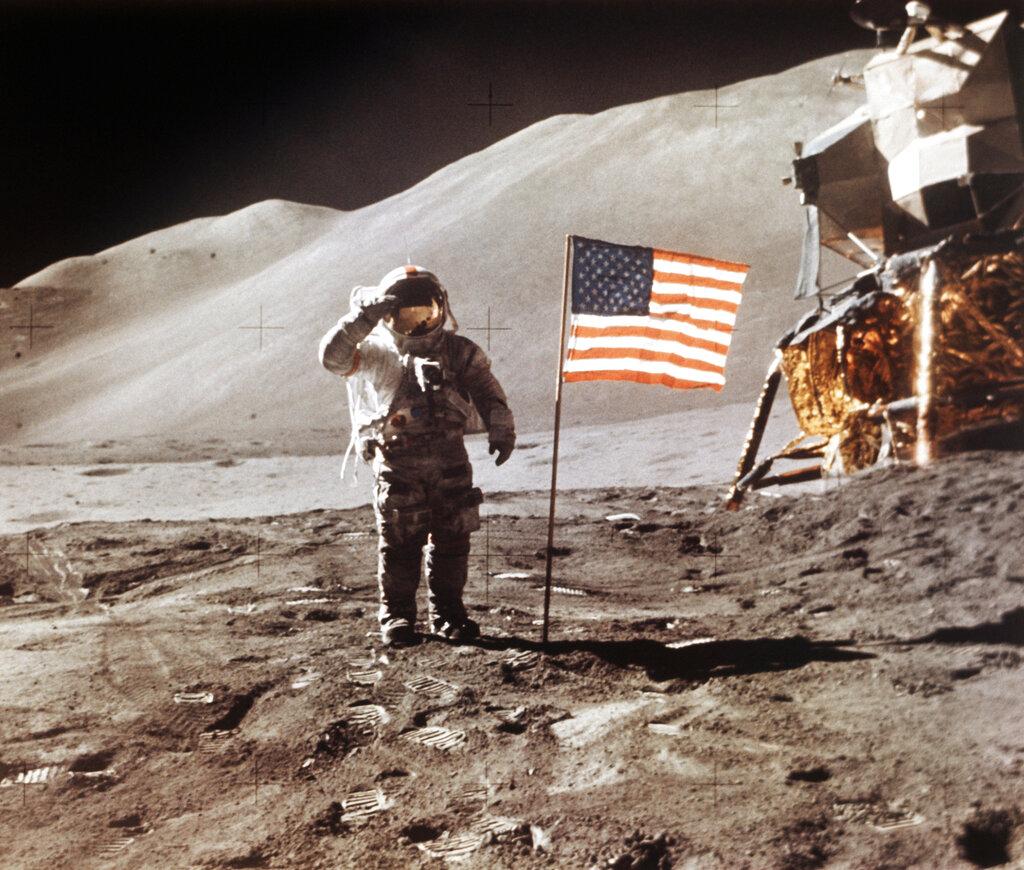 美國對上一次派人登陸月球已是1972年。 美聯社圖片