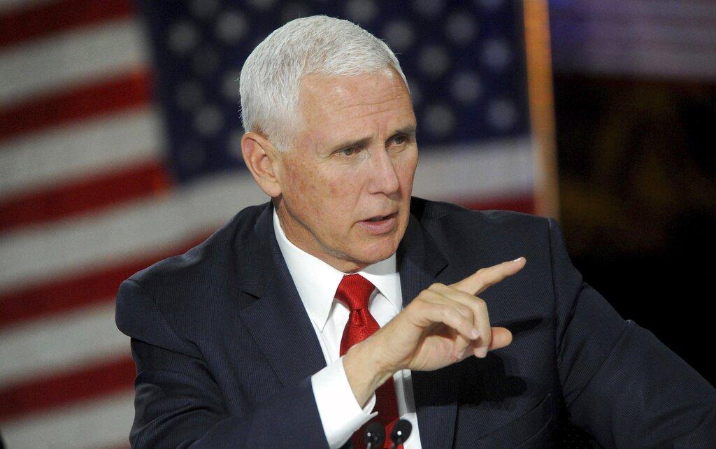 美國副總統彭斯周二出席一項活動及發表演說時,宣佈美國太空人將會在5年內重返月球。美聯社圖片