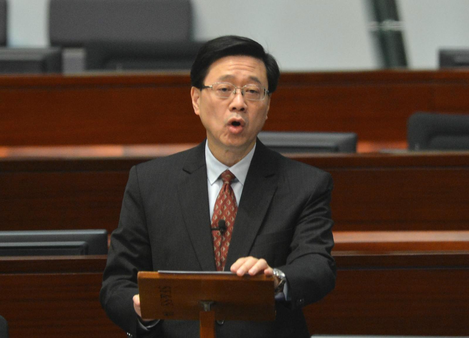 李家超指特區政府與內地如有任何協議,政府必定會交立法會審議。