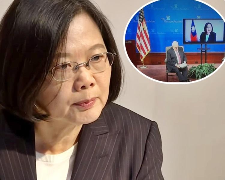 蔡英文指香港實行一國兩制的經驗,對台灣而言是很好的個案研究。網上截圖