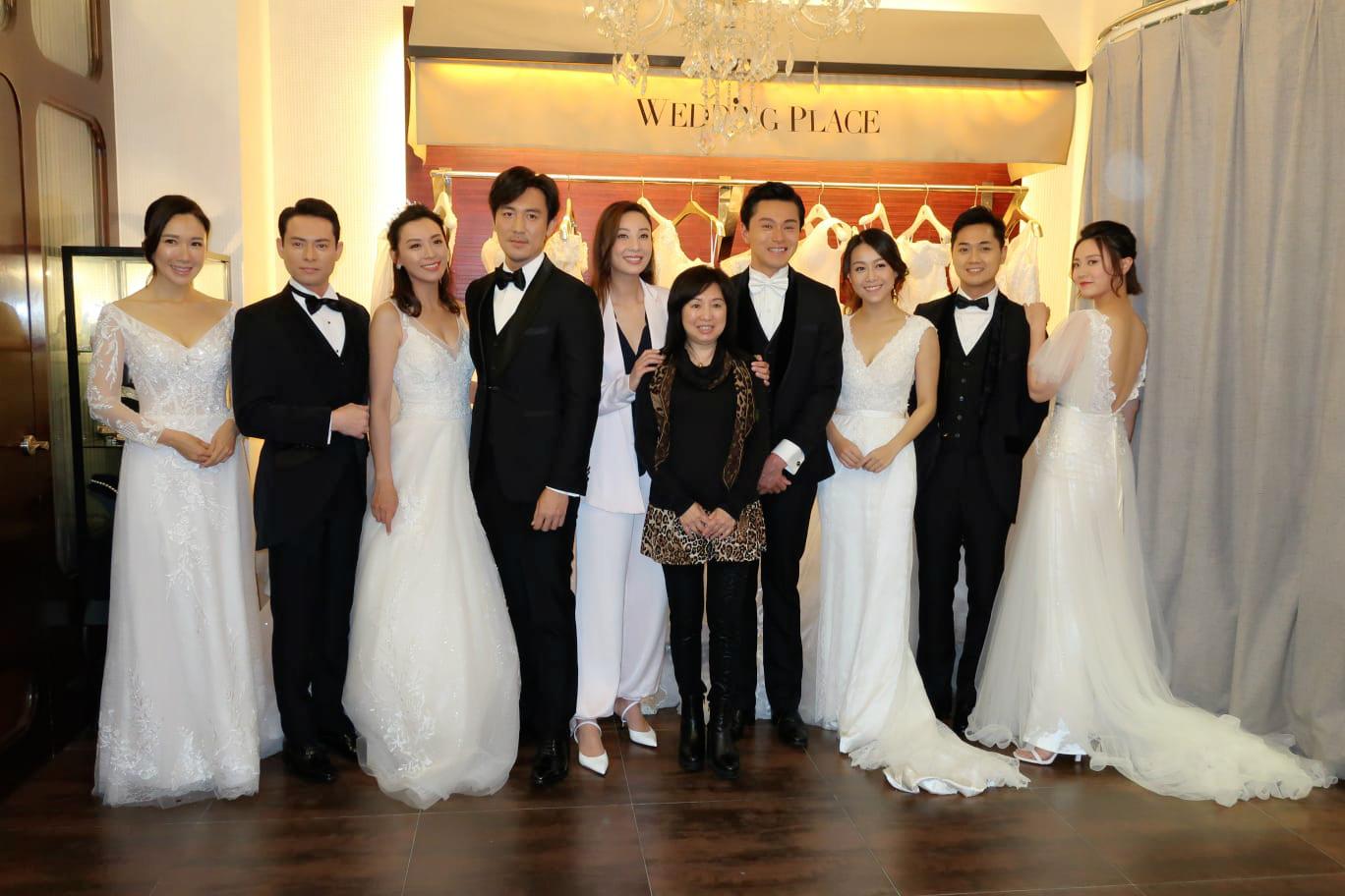 陳煒聯同黃浩然、黃心穎、朱晨麗等拍攝《法證先鋒IV》婚紗場景