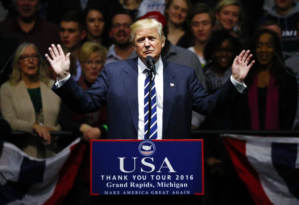 特朗普指Google CEO表明致力为美国作出承担和服务。美联社图片