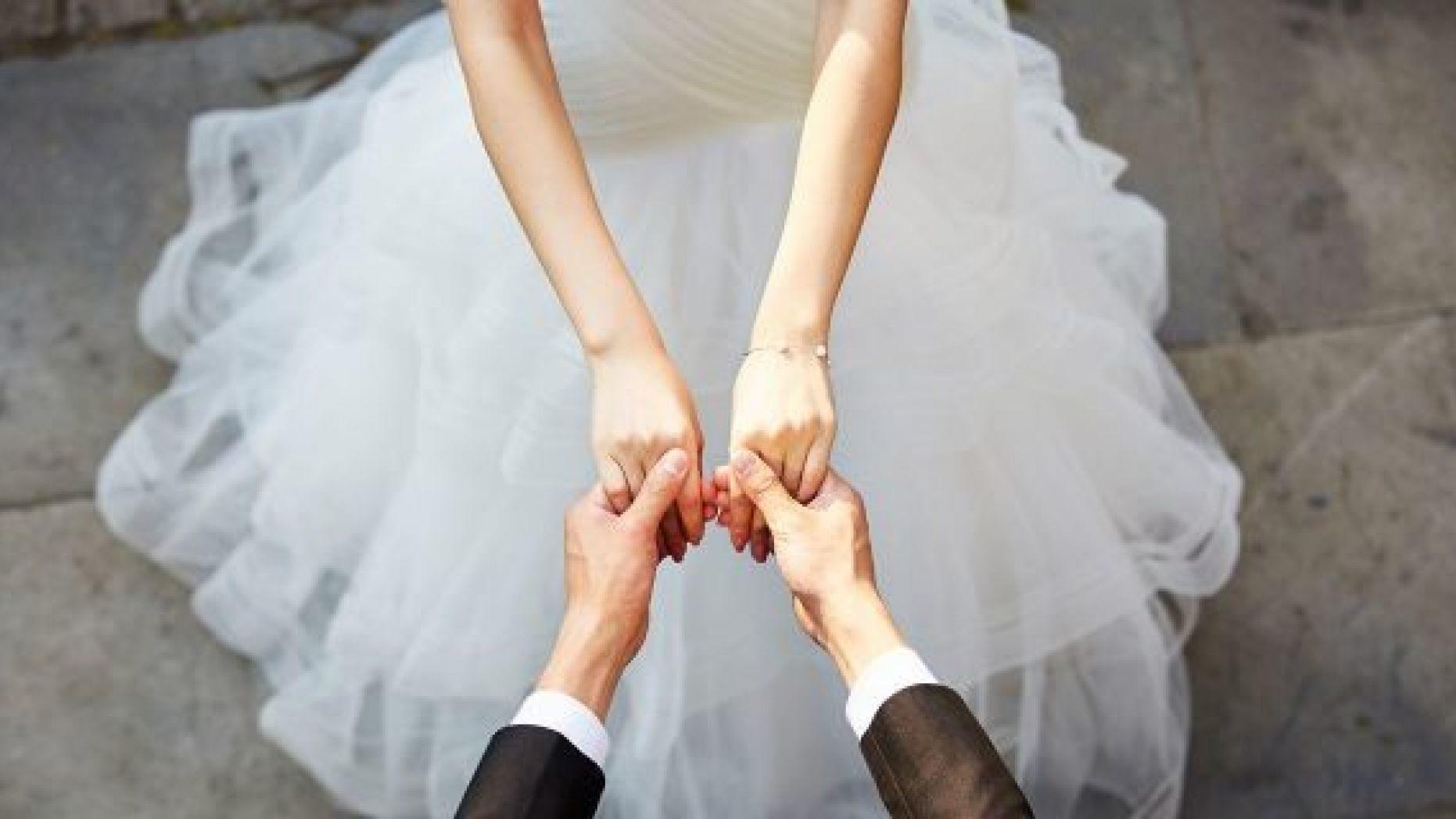 福建男子與妻子結婚2個月後,意外發現對方原來是表妹。 示意圖