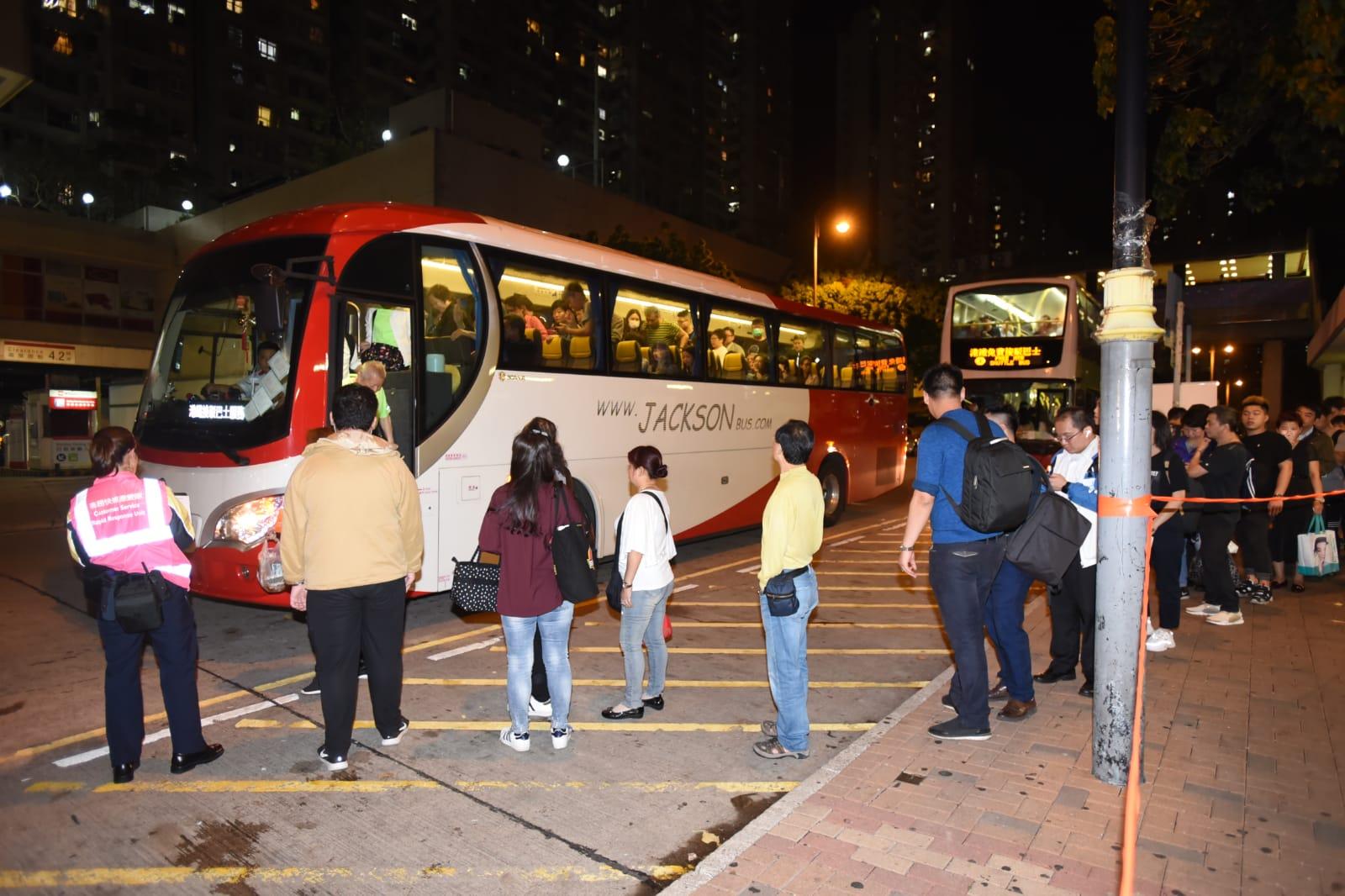 港鐵一度安排免費接駁巴士,行走太和站至上水站。