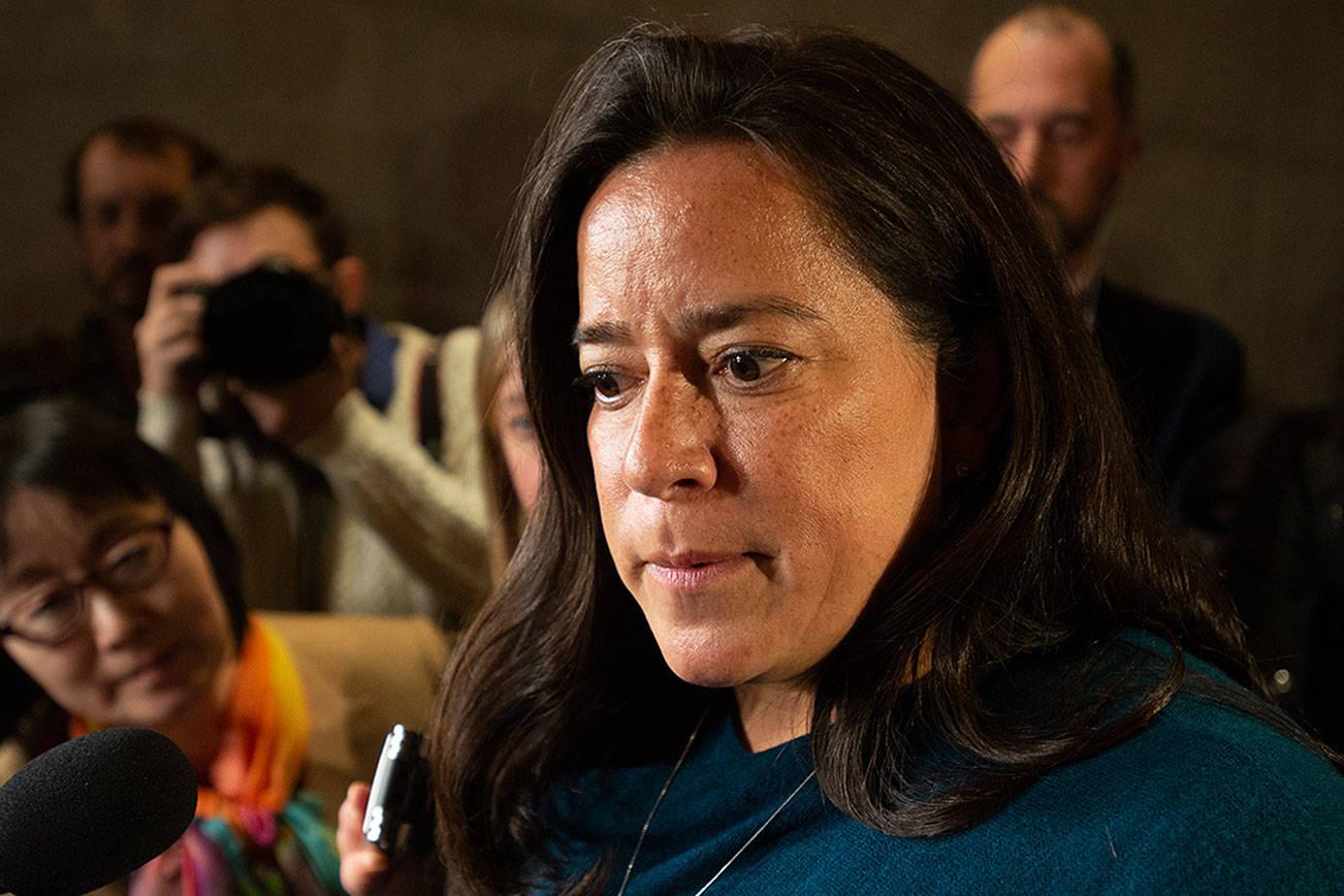 前司法部長王州迪(Jody Wilson-Raybould)公開電話錄音,以證明杜魯多曾干預司法。 美聯社圖片