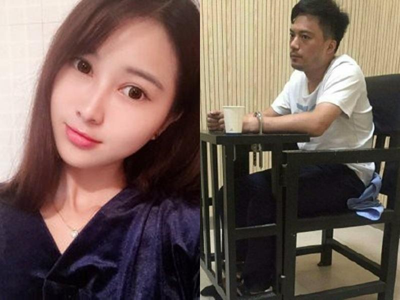 网红陈巧丰被前男友吴益栋当街割喉致死。网图