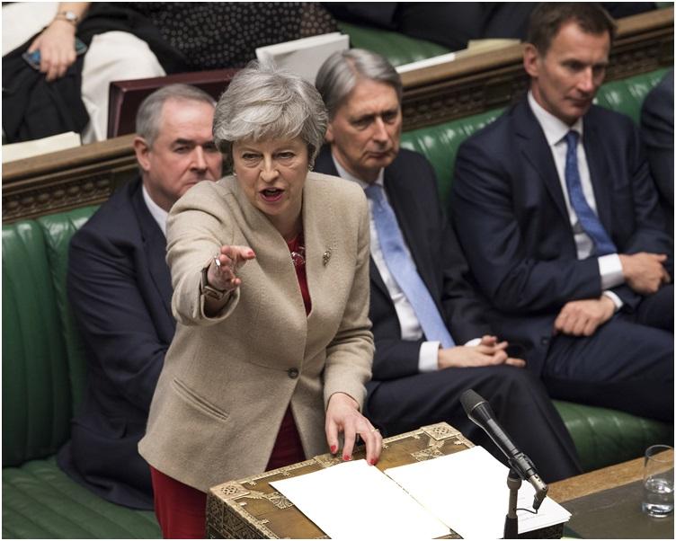 文翠珊可能就脫歐協議草案尋求向國會第四度闖關。AP