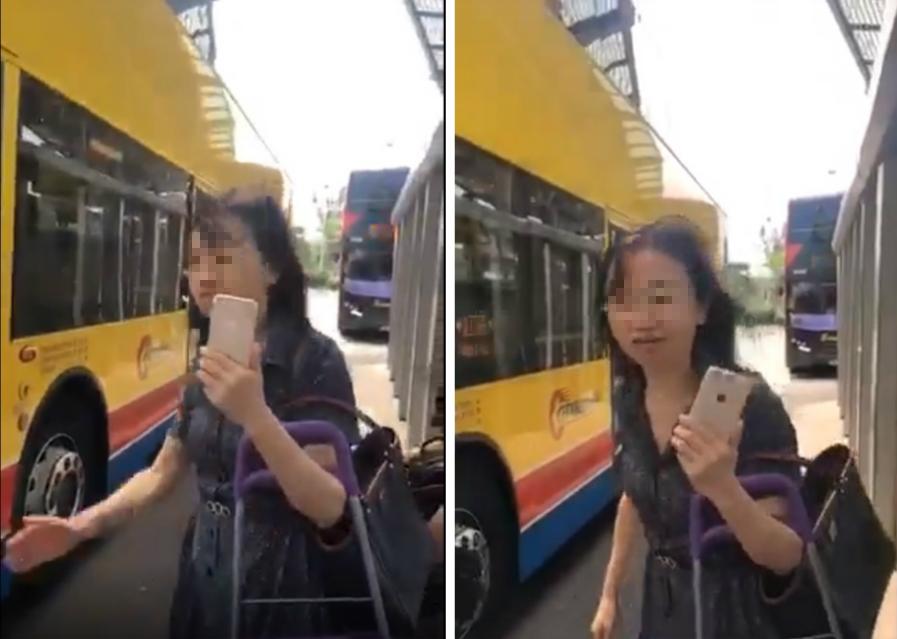 內地女子一度不滿企位要求退款。Facebook專頁「巴士台 HK Bus Channel」片段截圖