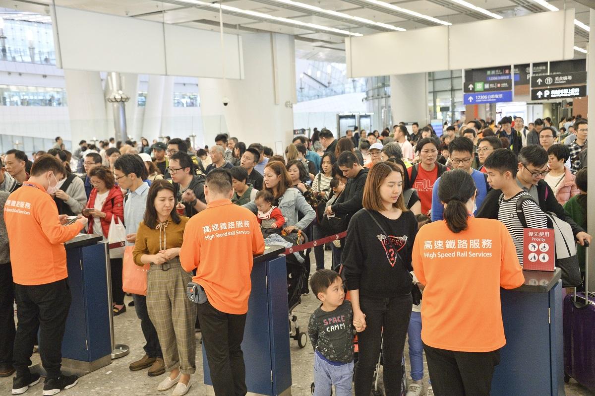 西九龍站約200名員工受影響。資料圖片
