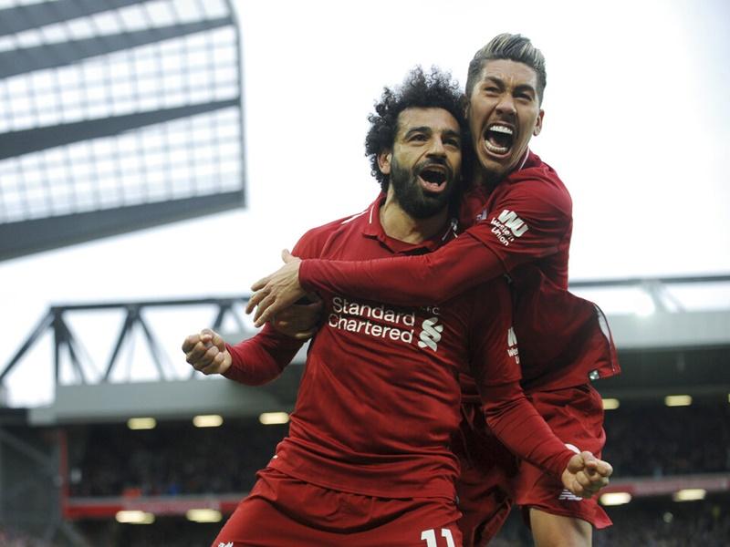 利物浦完场前靠乌龙波险胜热刺。AP
