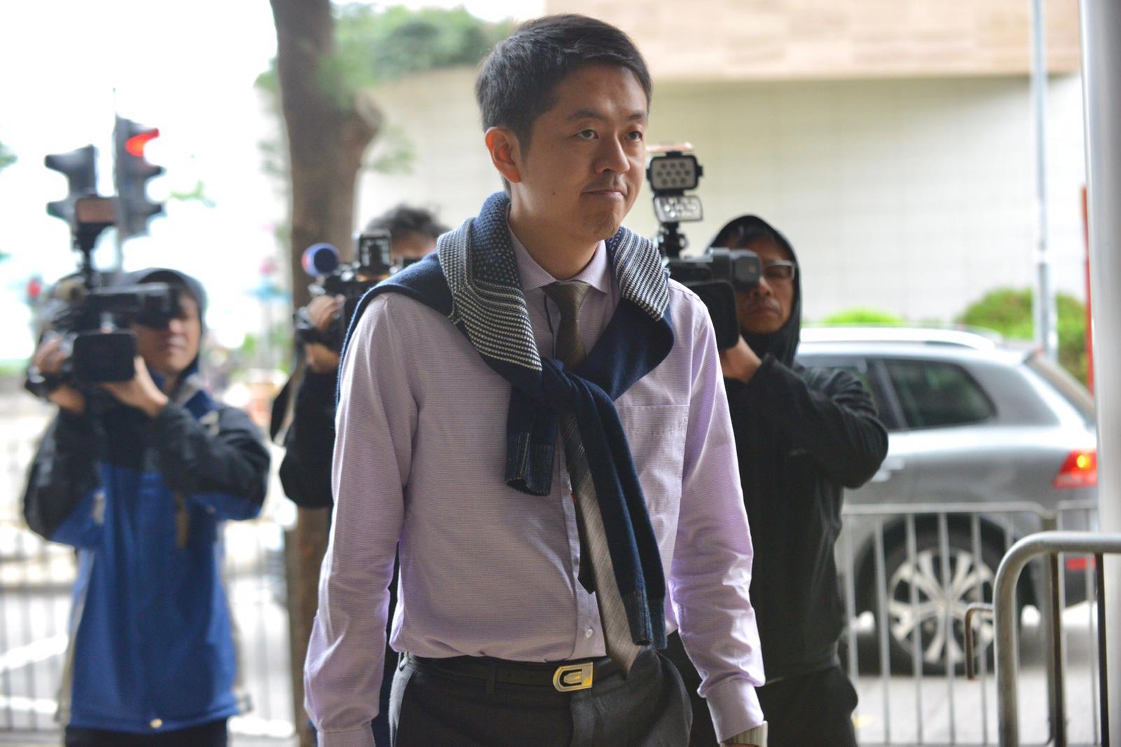 許智峯早前被裁定表證成立,今出庭自辯。
