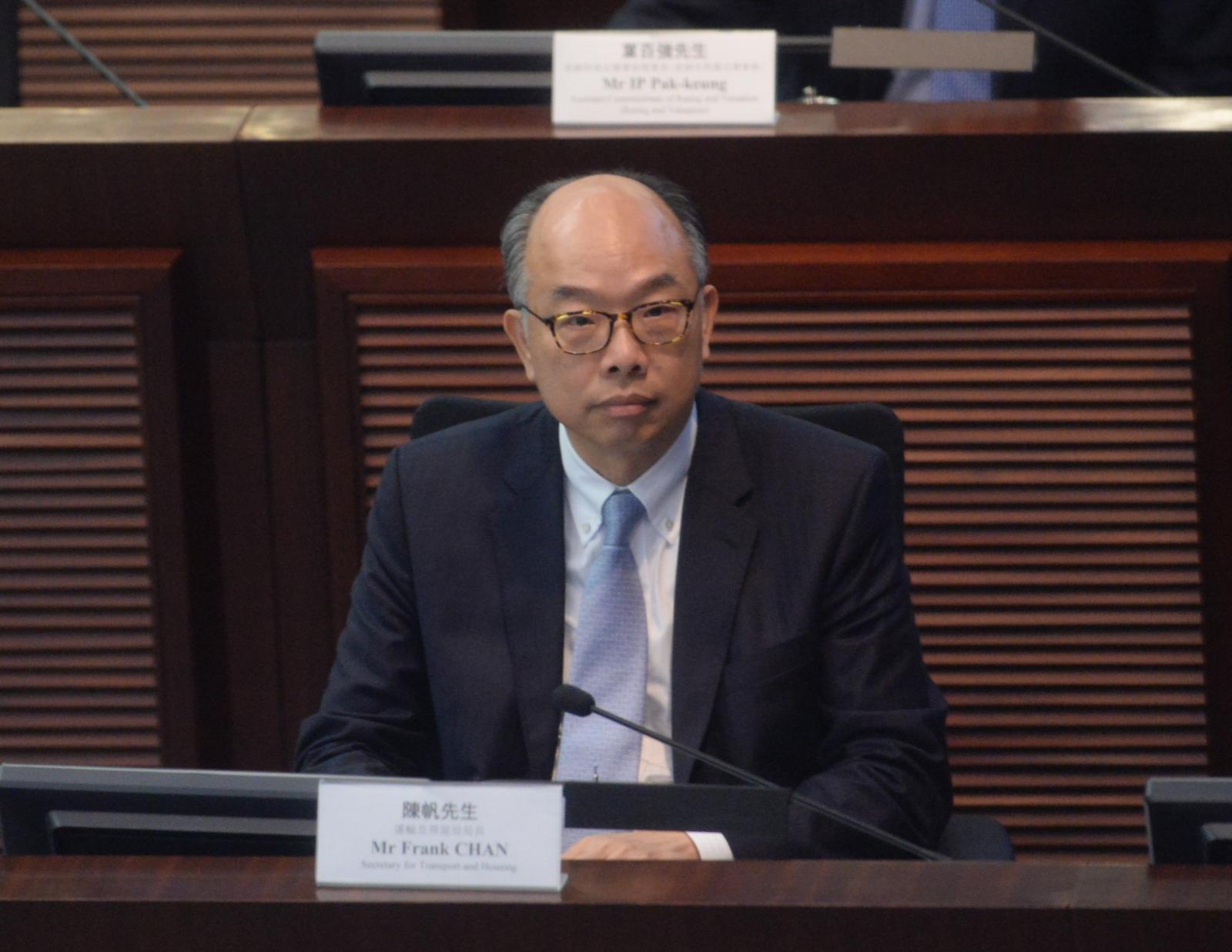 運輸及房屋局局長陳帆。