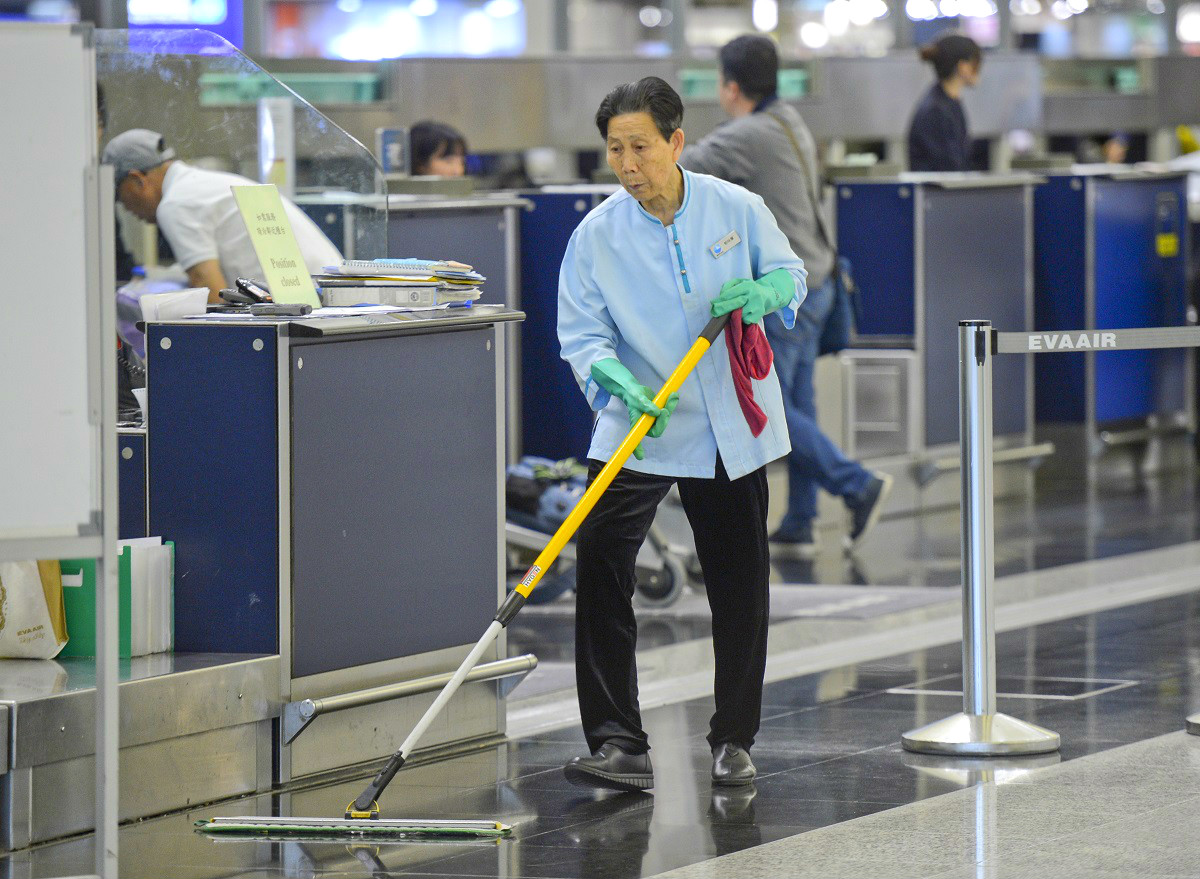 至今14名麻疹患者在機場或航空公司工作。資料圖片