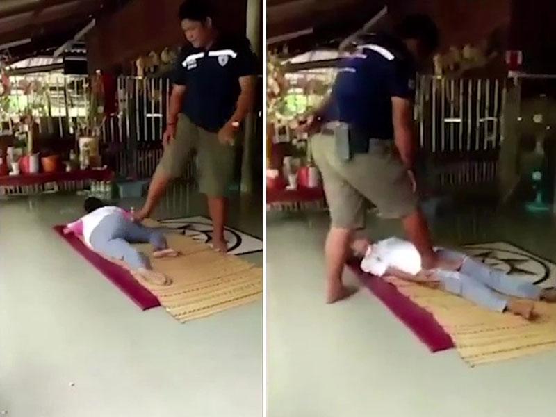 女子脚痛做泰式按摩1小时,惨被踩断腿骨终身残疾。(网图)