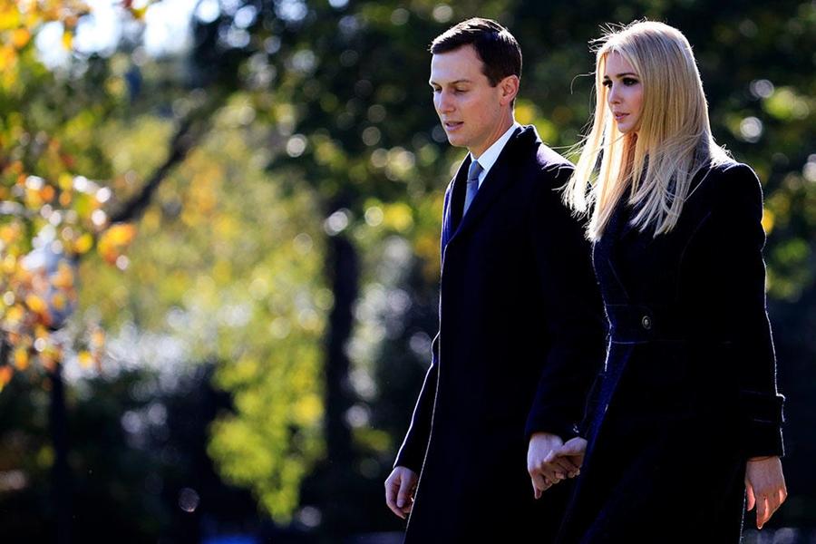 特朗普的女儿伊万卡和女婿库什纳。  图片