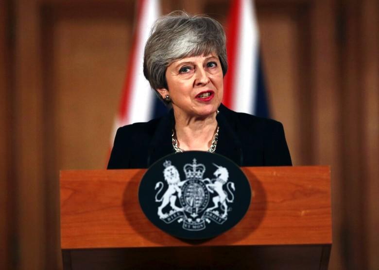文翠珊宣布将向欧盟寻求延长脱欧期限。美联社
