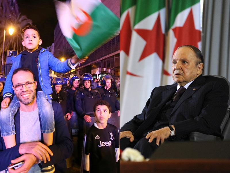 北非國家阿爾及利亞總統布特弗利卡宣布辭職,結束對當地超過20年的管治,大批民眾上街慶祝。AP