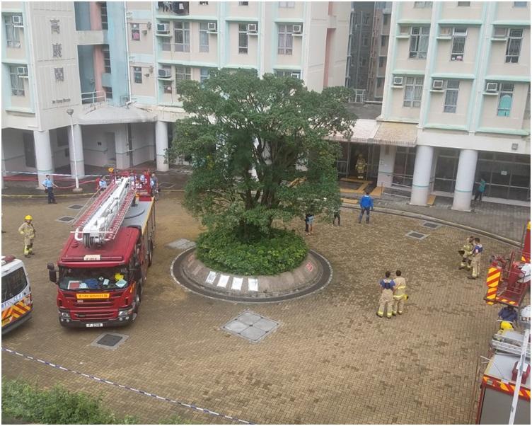 消防到場將火救熄。歐陽偉光攝