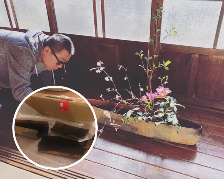 導演彭浩翔發文抱怨陶瓷花盆寄艙卻碎裂收場。彭浩翔fb