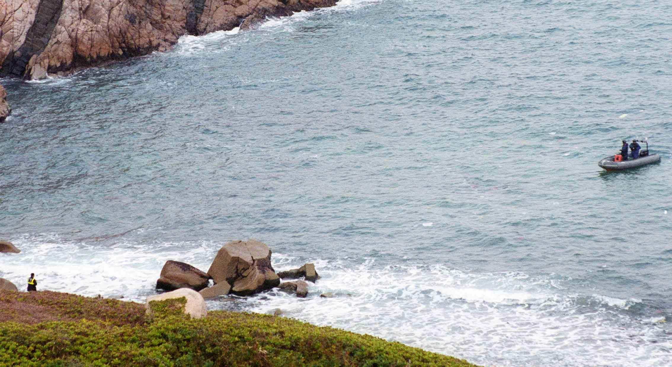 石澳鶴嘴附近水域。 資料圖片