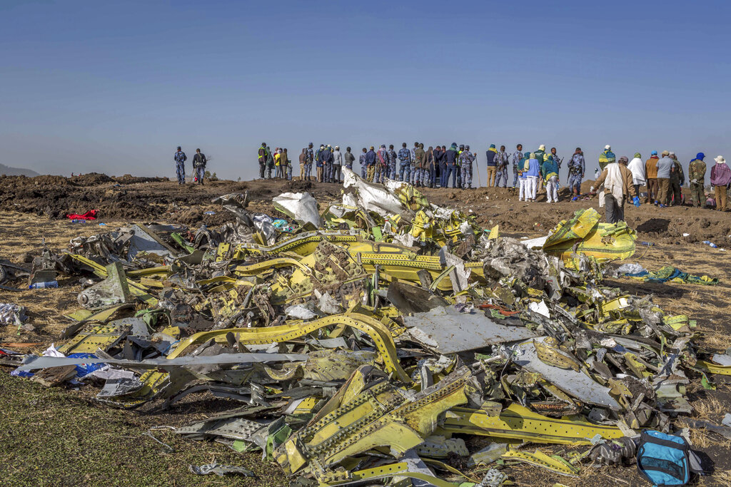 埃塞俄比亞航空公司客機上月墜毀,機上157人全部遇難。  AP資料圖片