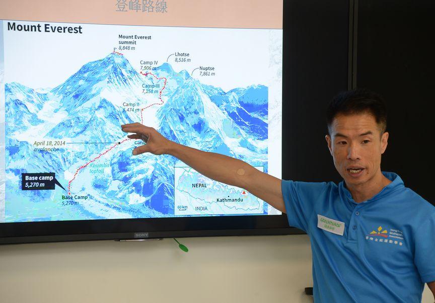 黃偉建作為第九位成功登上珠峰的香港人,他今天前往尼泊爾,勇闖相鄰的第四高峰洛子峰。