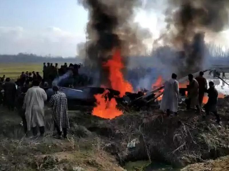 巴基斯坦空军早前击落印度战机。网图