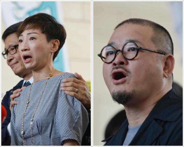 公民黨陳淑莊(左);社會福利界邵家臻(右)。