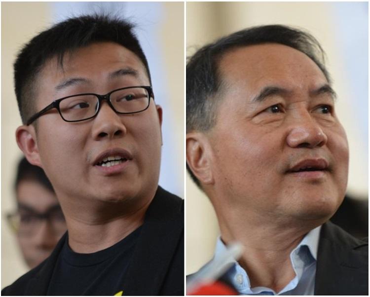 黃浩銘(左)有2項罪成,李永達(右)則1項罪成。