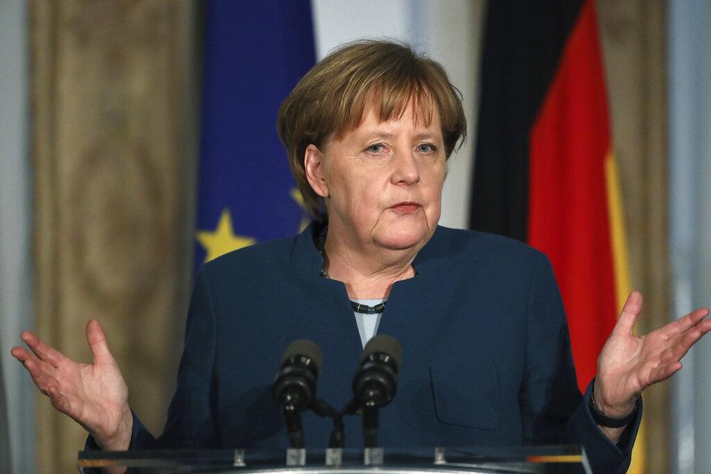 德國總理默克爾。AP圖片