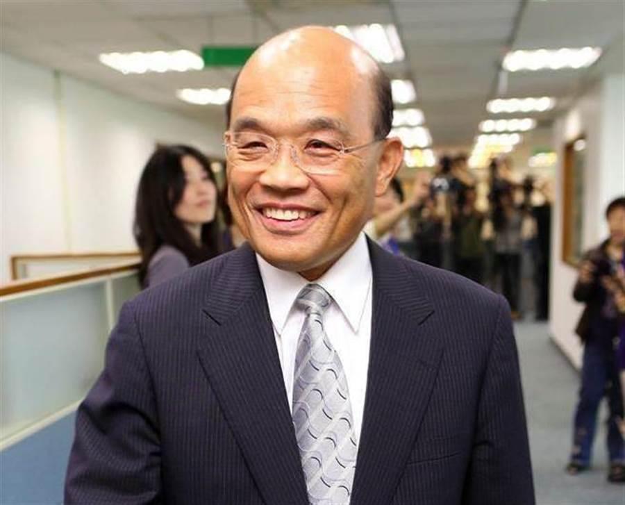 台灣的行政院長蘇貞昌。網上圖片