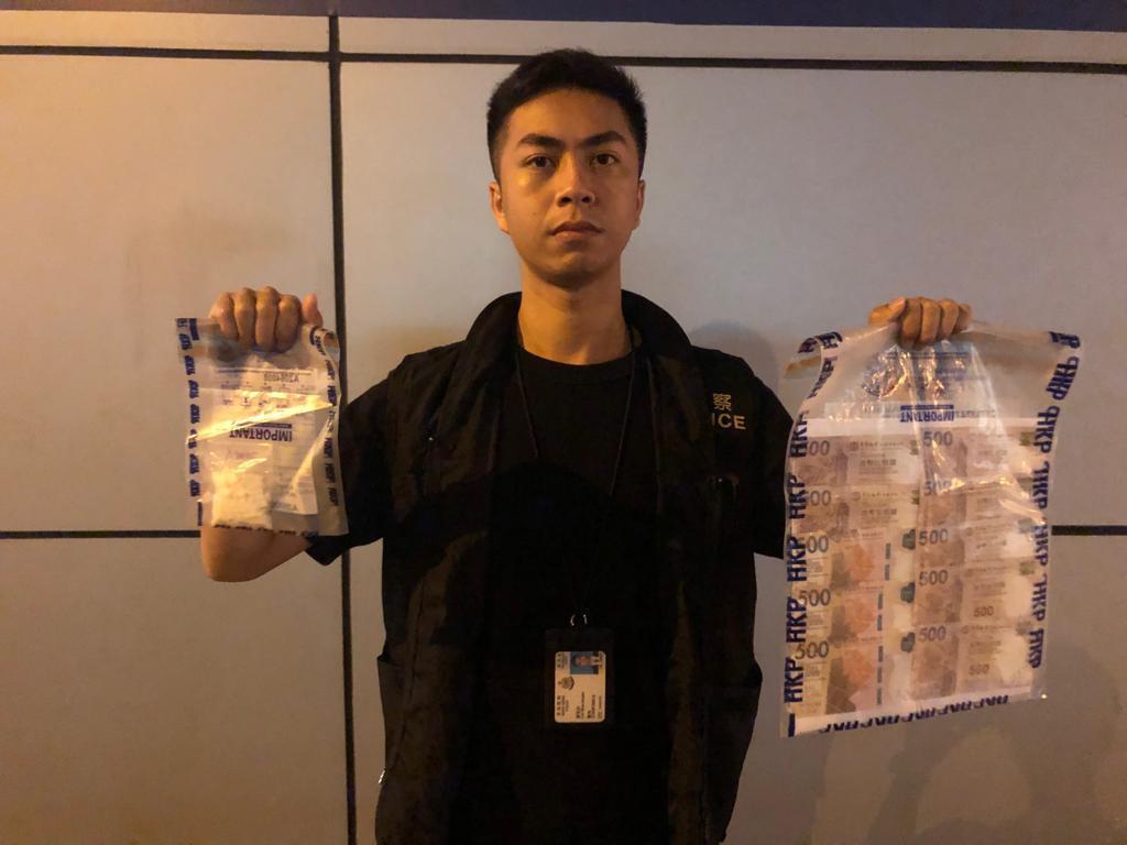 警方在將軍澳檢獲市值約3萬元的毒品。警方提供