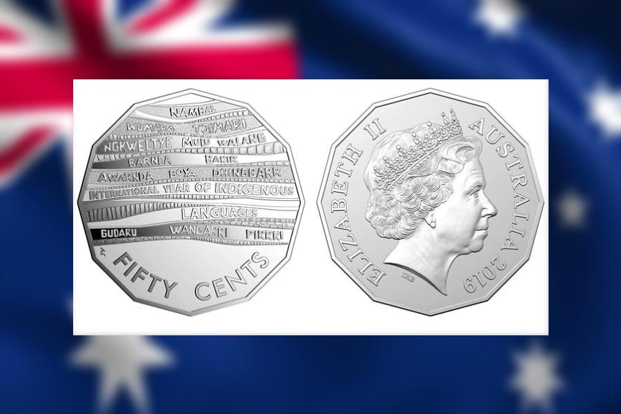 硬币上的图案设计,是14种原住民语言「硬币」(coin)一词的英文译名,例如「nambal」、「Wumara」、「Tjimari」等。 网上图片