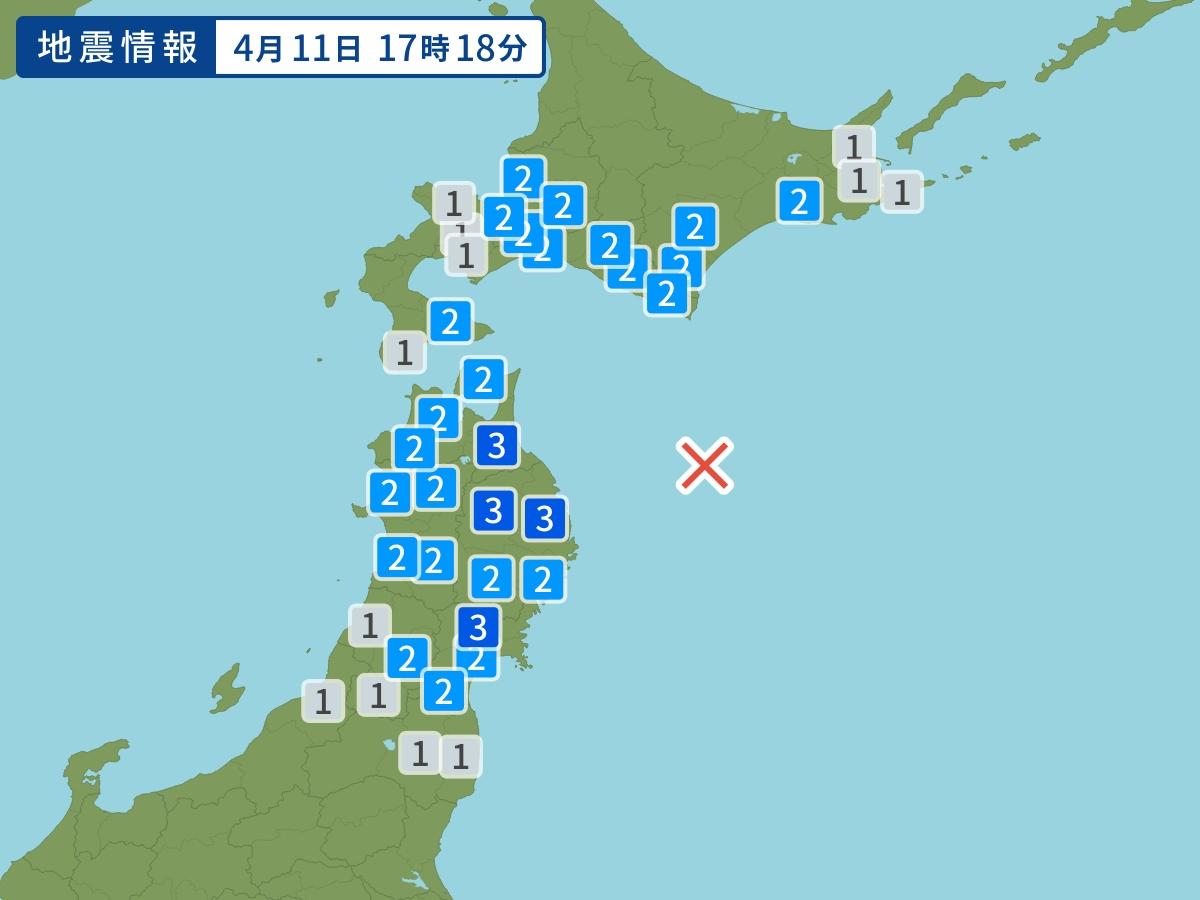 日本青森以東海域6級地震 。網上圖片