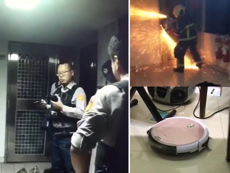 警方獲報主婦家中有竊賊入屋,趕赴破門救人,結果原來是掃地機器人造成誤會。(網圖)
