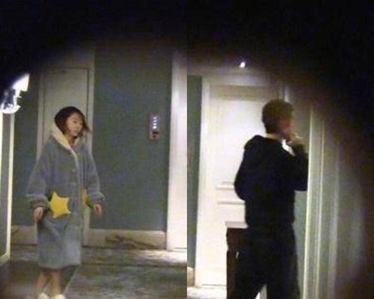 畢瀅再被拍到穿著睡衣在張丹峰房間逗留。網圖
