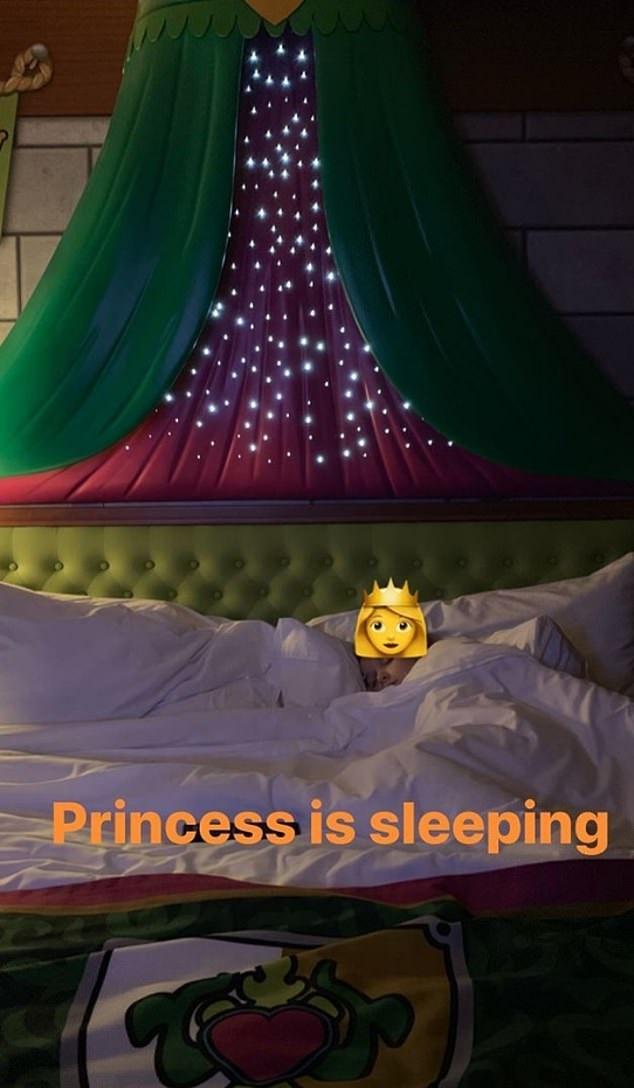 小公主睡著了。Instagram