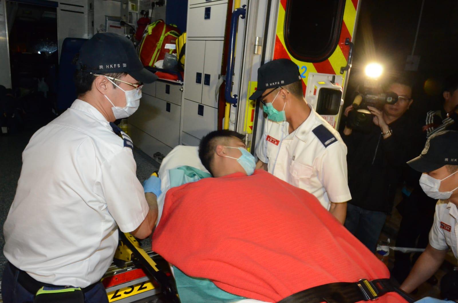 中槍男子轉往瑪嘉烈醫院治療。