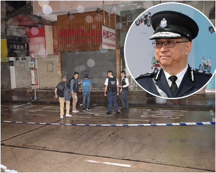 盧偉聰表示,深水埗昨日發生的懷疑開槍案警方正全力緝兇。