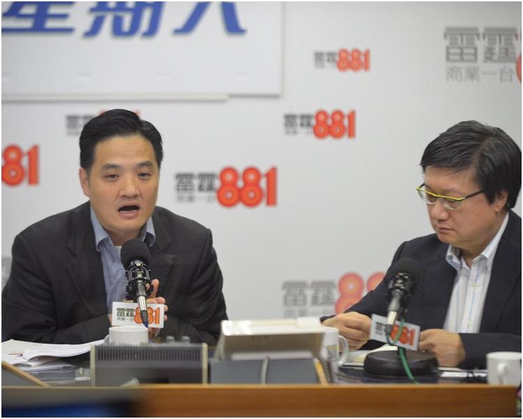 黃元山及林奮強出席電台節目講述醫療人手短缺。