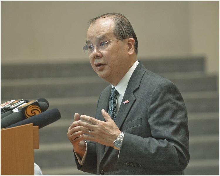 張建宗希望能在5月通過論財政預算案。