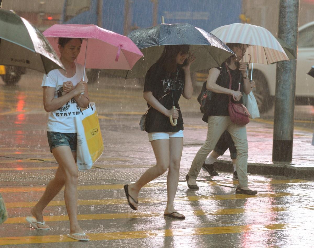 預測星期二雨勢頗大。資料圖片