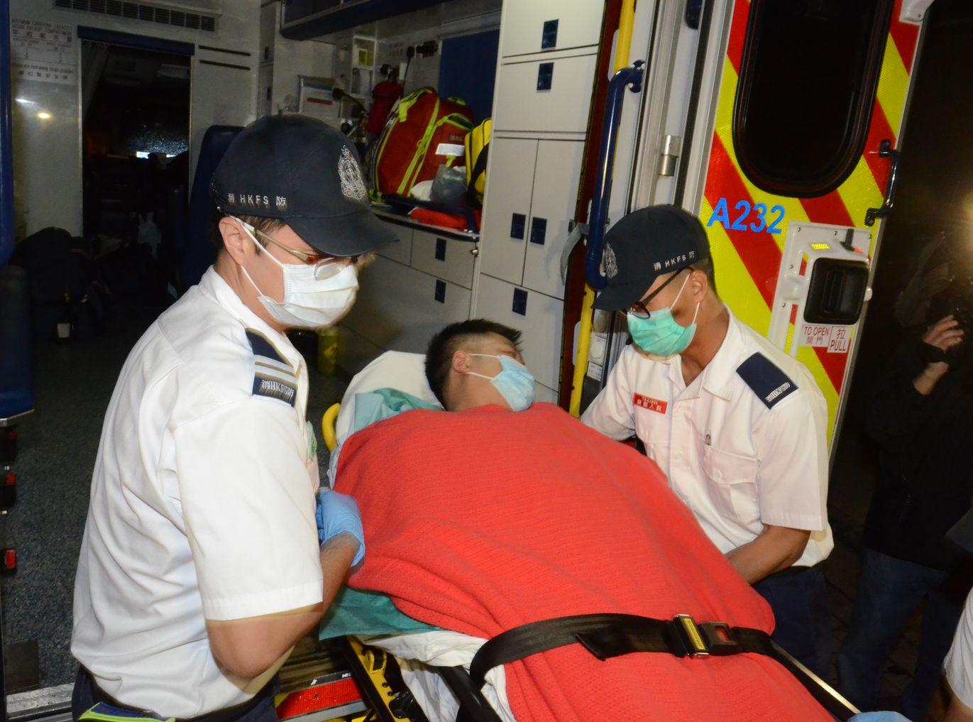 傷者已在下午出院。