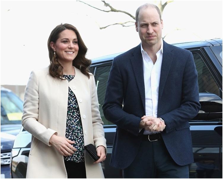 威廉王子(左)與凱特形象一向予人恩愛。AP