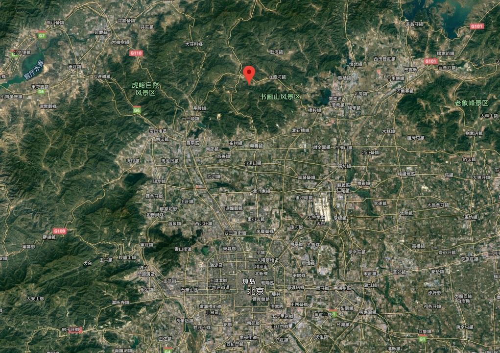 北京懷柔區發生3級地震。網上圖片