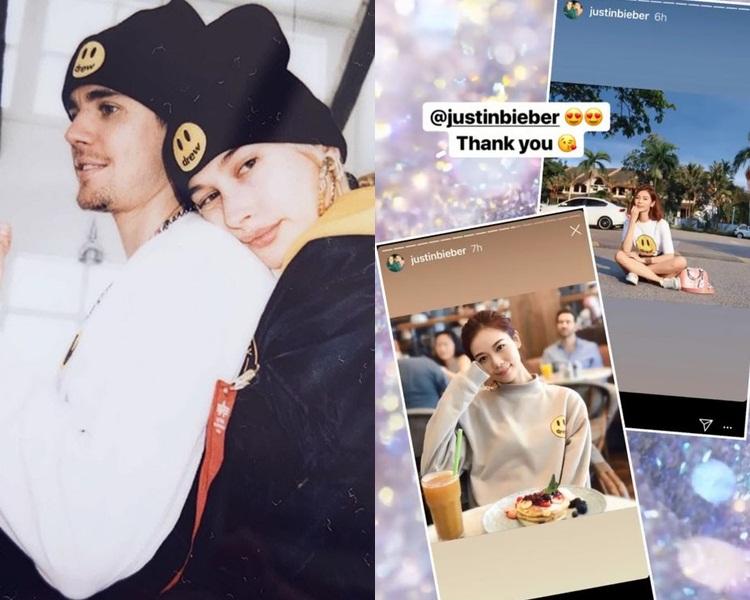 JB同老婆當然要捧自家品牌,楊秀惠的靚靚照都被JB睇中。(ig圖片)