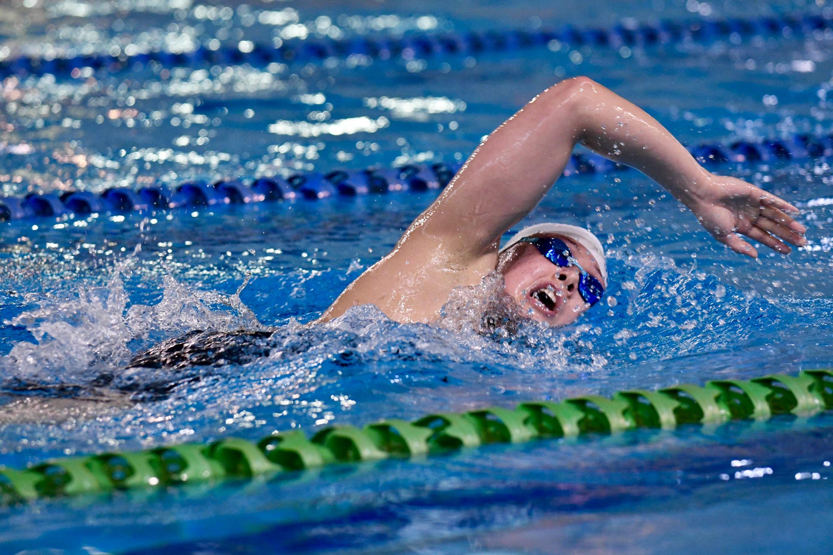 何詩蓓昨旋風式返港參賽,即在女子100米、200米自由泳造出奧運A標,成為首名獲東京奧運參賽資格的港將。梁柏琛攝