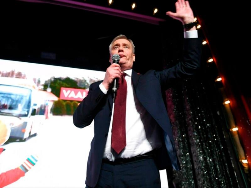 社会民主党党魁林内,将成为芬兰近20年来,首位立场偏左的国家领袖。AP